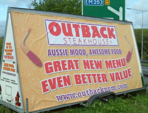 Outback PVC banner